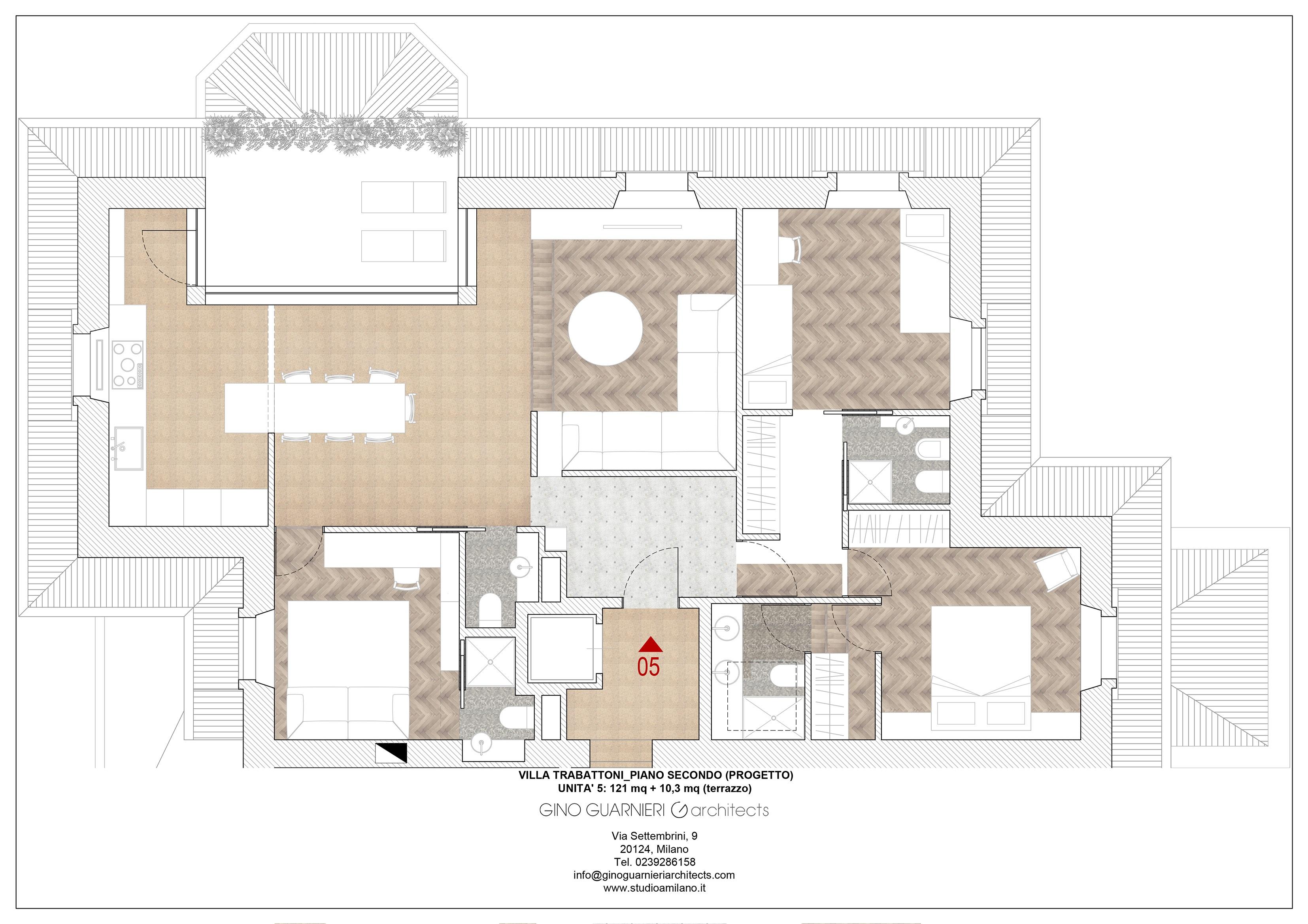 piano secondo appartamento nr 5